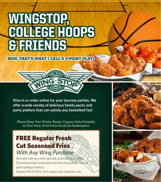 Wingstop coupon code