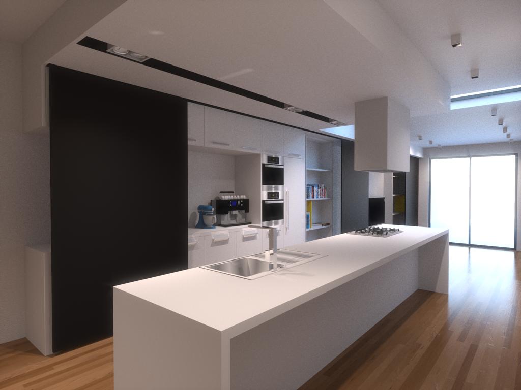 Keuken In Lange Smalle Ruimte: Lange smalle keuken op smal ...