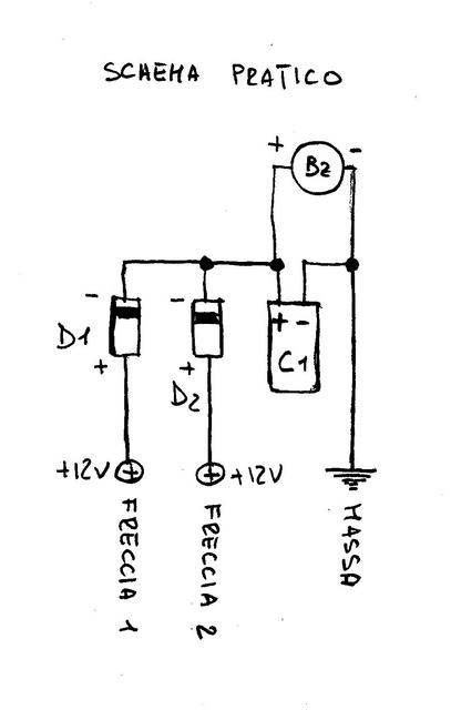Schema Elettrico Frecce Moto : Schema elettrico indicatori di direzione fare una mosca