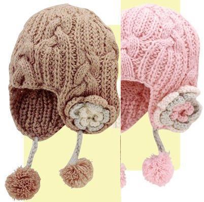 Caciulite tricotate pentru copii pentru iarna