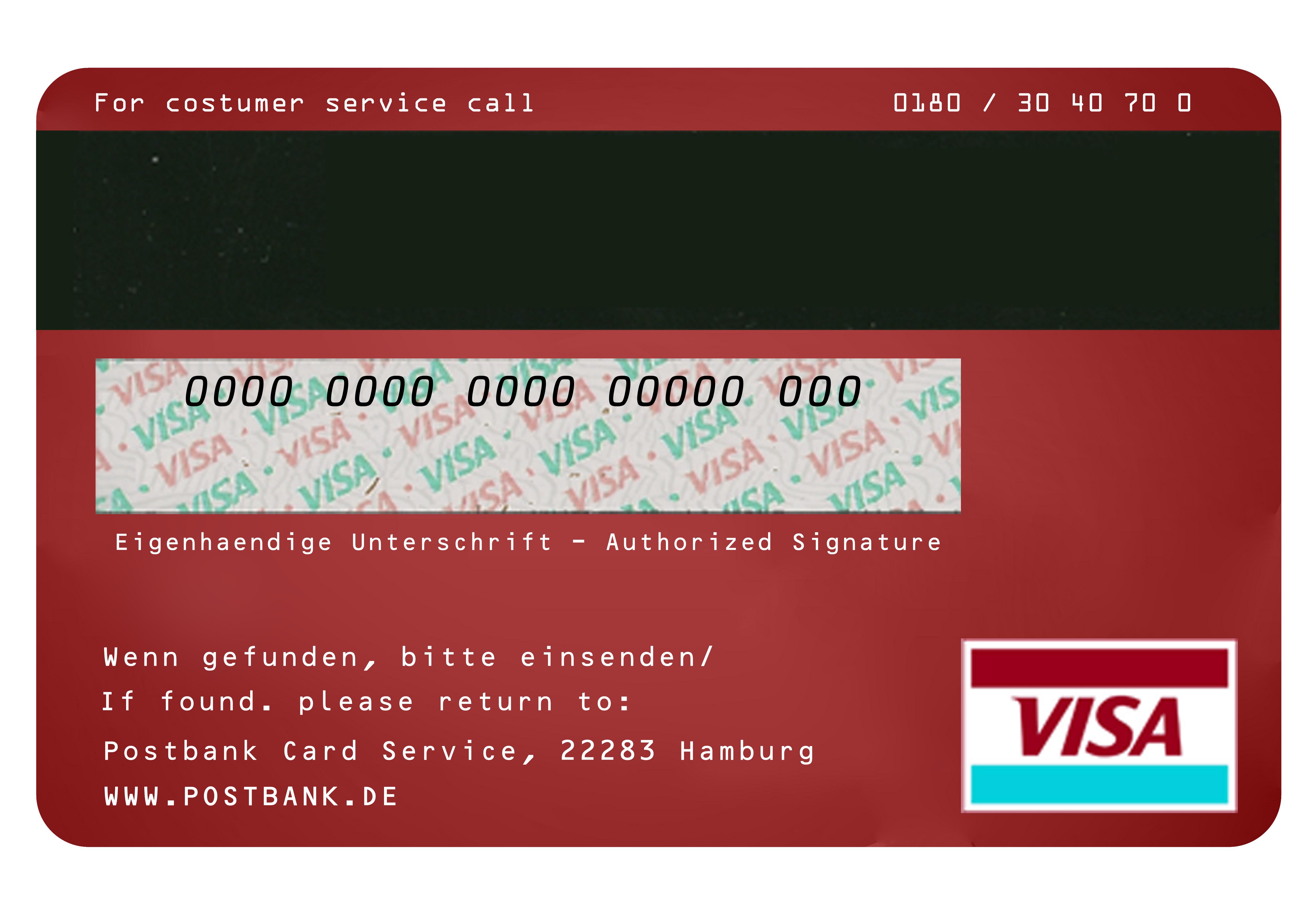 Visa Credit Card Back credit-card-bea...