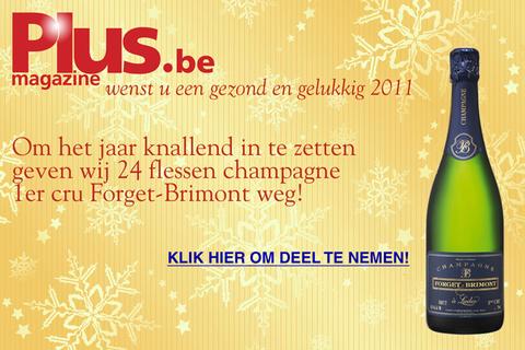 a8e1ddfec26 Om het jaar spetterend te beginnen schenkt plus-Magazine champagne 1er cru  Forget-Brimont weg.