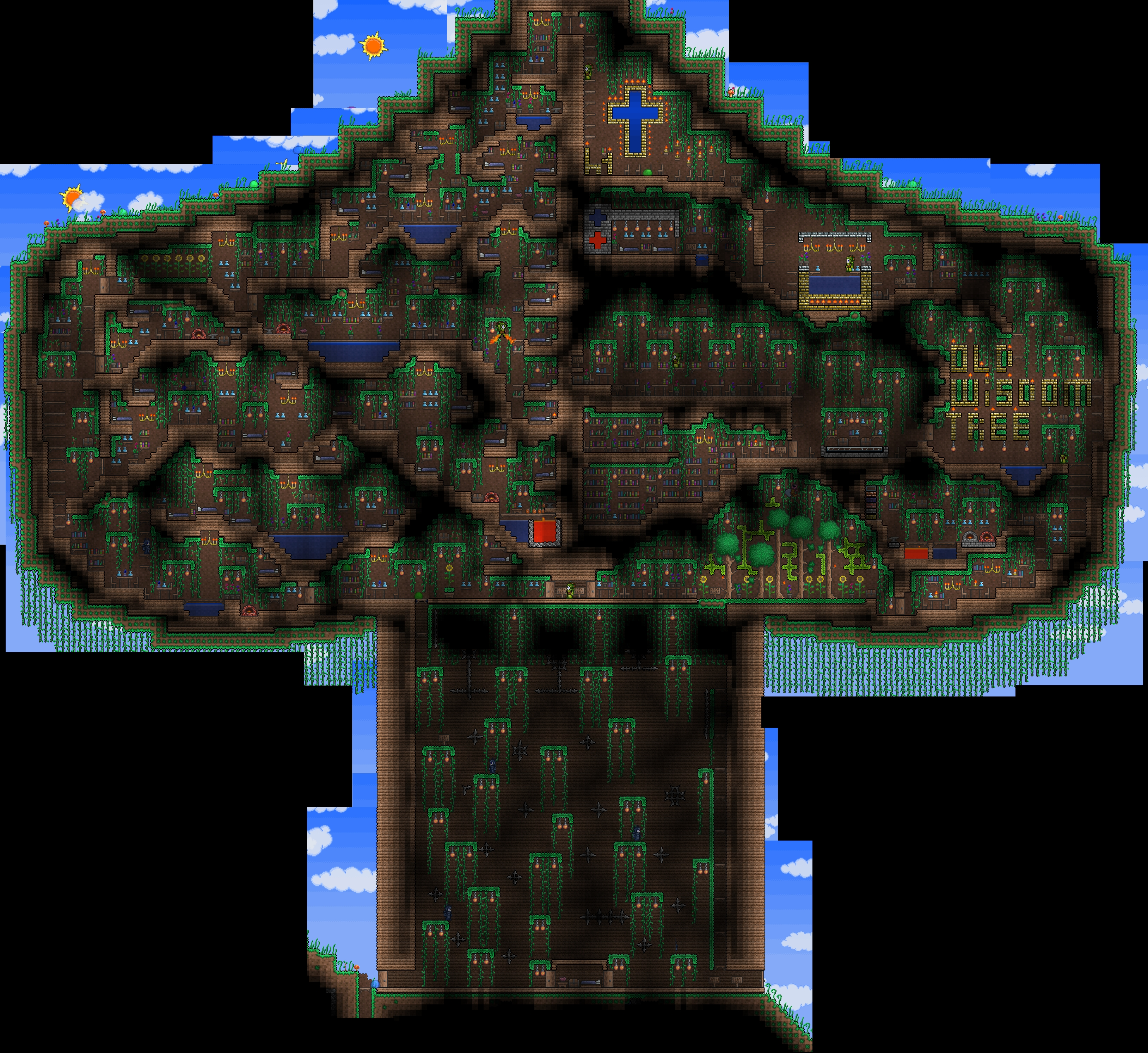 Terraria house ideas easy images for Best house designs terraria