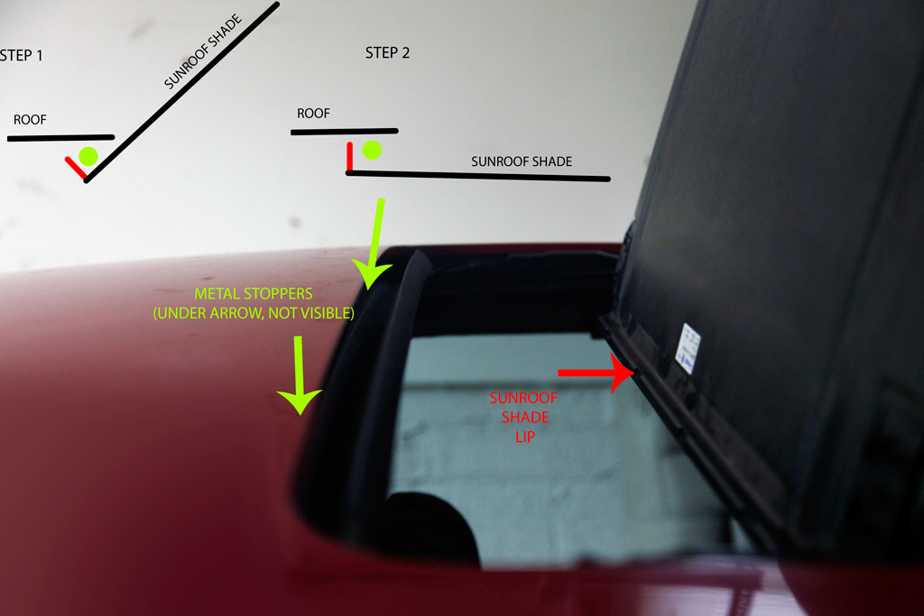 how to close a sunroof shade